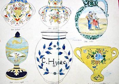 PA Cache Pot & Gourde en Rouen, Pichet en Quimper, Ciboire en Nevers, Pot en Pharmacie en Lille & Cache pot en Montpellier