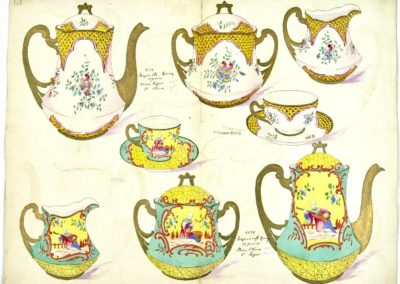 PA Vve Masse Service à thé Porcelaine
